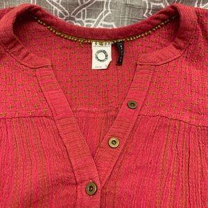 Anthropology Boho sleeveless blouse
